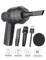 MECO Aspirapolvere tastiera a USB, kit di pulizia dalla polvere per PC portatili, per pulire gli spazi fra i tasti, l'automobile, il divano e altri mobili - nero