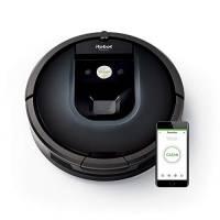 iRobot Roomba 981 Robot Aspirapolvere, Sistema di Pulizia ad alte Prestazioni, Dirt Detect, Spazzole Tangle-Free, Adatto a Pavimenti e Tappeti, per i Peli degli Animali Domestici, Wi-Fi, Blu Notte