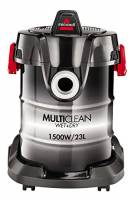 Bissell Multiclean Wet&Dry Aspirapolvere Multifunzione Solidi-liquidi con Funzione soffiante Tamburo, 1500 W, 85 Decibel