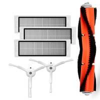 TOOGOO 3 pz filtro hepa + 2 spazzole laterali PC + 1 spazzola principale PCS Adatto per Xiaomi Mi Robot accessori per aspirapolvere