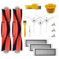 aotengou Kit di accessori per Xiaomi Mi Mijia Roborock S6 S50 S51 E25 S5 E20 E35 Robock 2 aspirapolvere robot 3 Spazzola laterale 3 HEPA Filter 2 Spazzola principale Strumento di pulizia