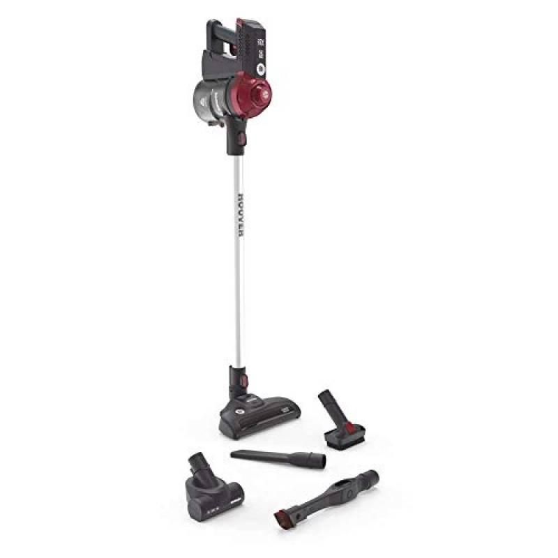 Hoover FD22RP 001 Freedom - Scopa Elettrica Senza Filo, Autonomia fino a 25 min, Grigio e Rosso