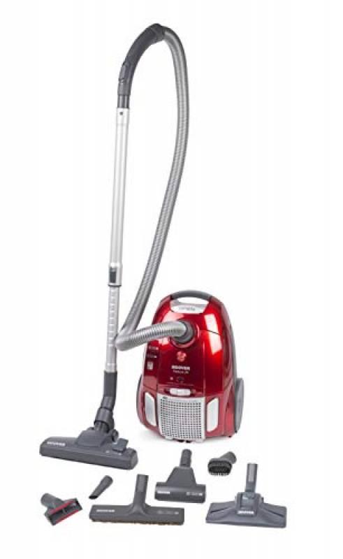 Hoover TE 75 Traino con Sacco Telios Plus, Sacco con capacità da 3,5 litri, 700 watt, Rosso, 66 dB
