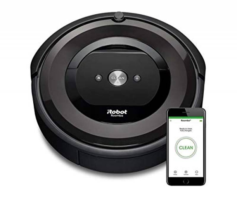 """iRobot Roomba 865 Robot Aspirapolvere, sistema di pulizia ad alte prestazioni con Dirt Detect e spazzole """"tangle-free"""", adatto a pavimenti e tappeti, ideale per i peli degli animali domestici, programmabile, grigio"""