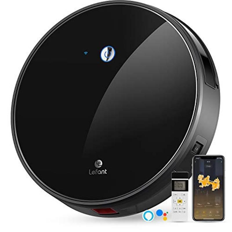 Aspirapolvere Robot, Aspirazione 2200Pa, Controllo WiFi, Funziona con Alexa e Google, Mappatura Intelligente, Silenzioso, Autocaricante, Aspirapolvere Robot- Lefant M520