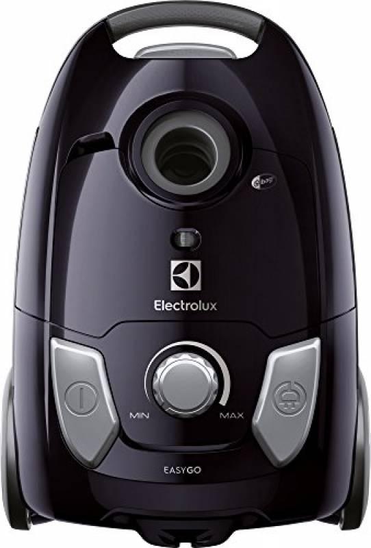 Electrolux EEG42EB Aspirapolvere con Sacco Easygo, Hygiene Filter 12, Spazzola Parquet, 650 W, 3.5 Litri, Nero