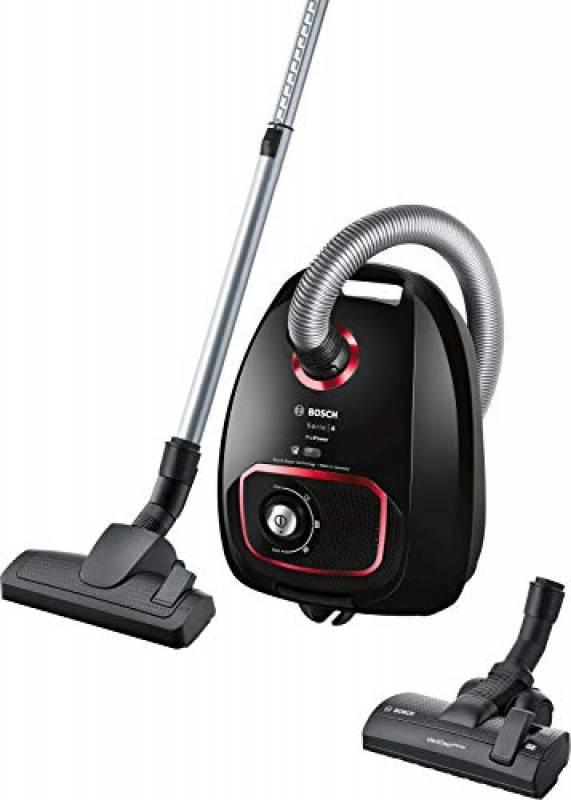 Bosch Elettrodomestici Serie 4 ProPower BGBS4POW1, Aspirapolvere a Traino, Nero, 850 W, 4 Litri, 76 decibi