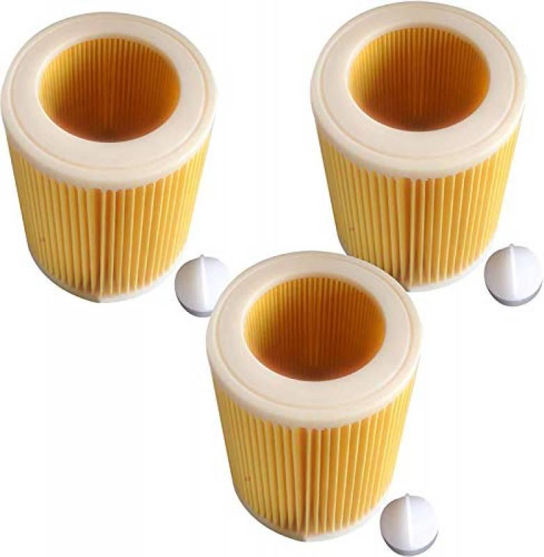 3x Cartuccia Filtro Aspirapolvere per Kärcher WD3 Premium WD2 WD3 WD3 MV3 WD3P Il kit di estensione sostituisce 6.414-552.0, 6.414-772.0.414-547.0