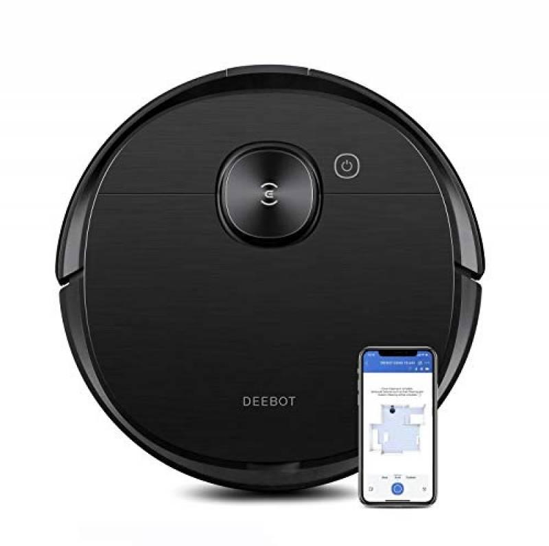 ECOVACS DEEBOT OZMO T8 AIVI robot aspirapolvere e lavapavimenti 2 in 1 con funzione di lavaggio attiva, navigazione intelligente e rilevamento ostacoli. Controllo con Google Home, Alexa App