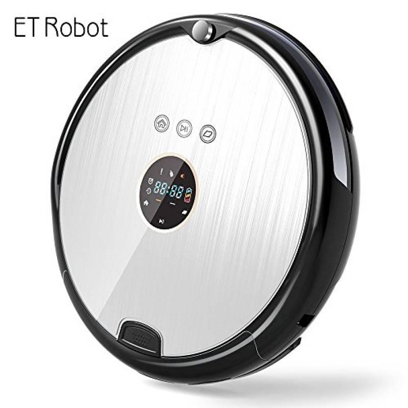 ET Robot Robot Aspirapolvere Ultra Piatto Stab Aspirapolvere Robot Aspirapolvere e geraeuscharmer (ottimizzato per peli di animali) Robot per la pulizia e MOP con serbatoio dell' acqua HEPA R8-A