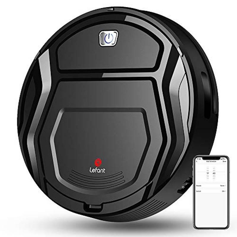 Robot Aspirapolvere Mini, 6D Sensore di Collisione WiFi/App/Alexa Ricaricabile Automaticamente Scatola di Polvere 500ml, Ideale per peli di Animali, Moquette e Pavimento Duro, Lefant-M201